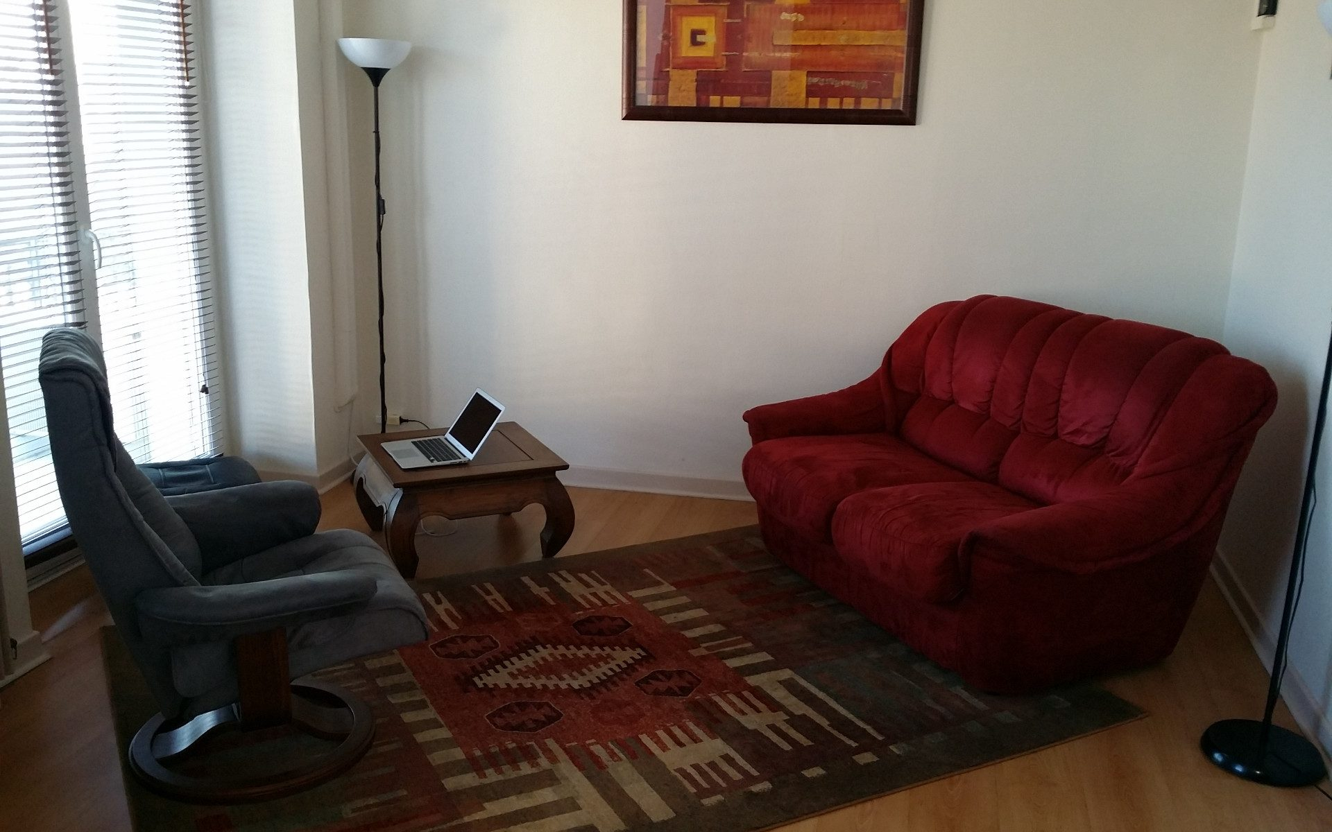La pièce dans laquelle je reçois mes rendez-vous individuels